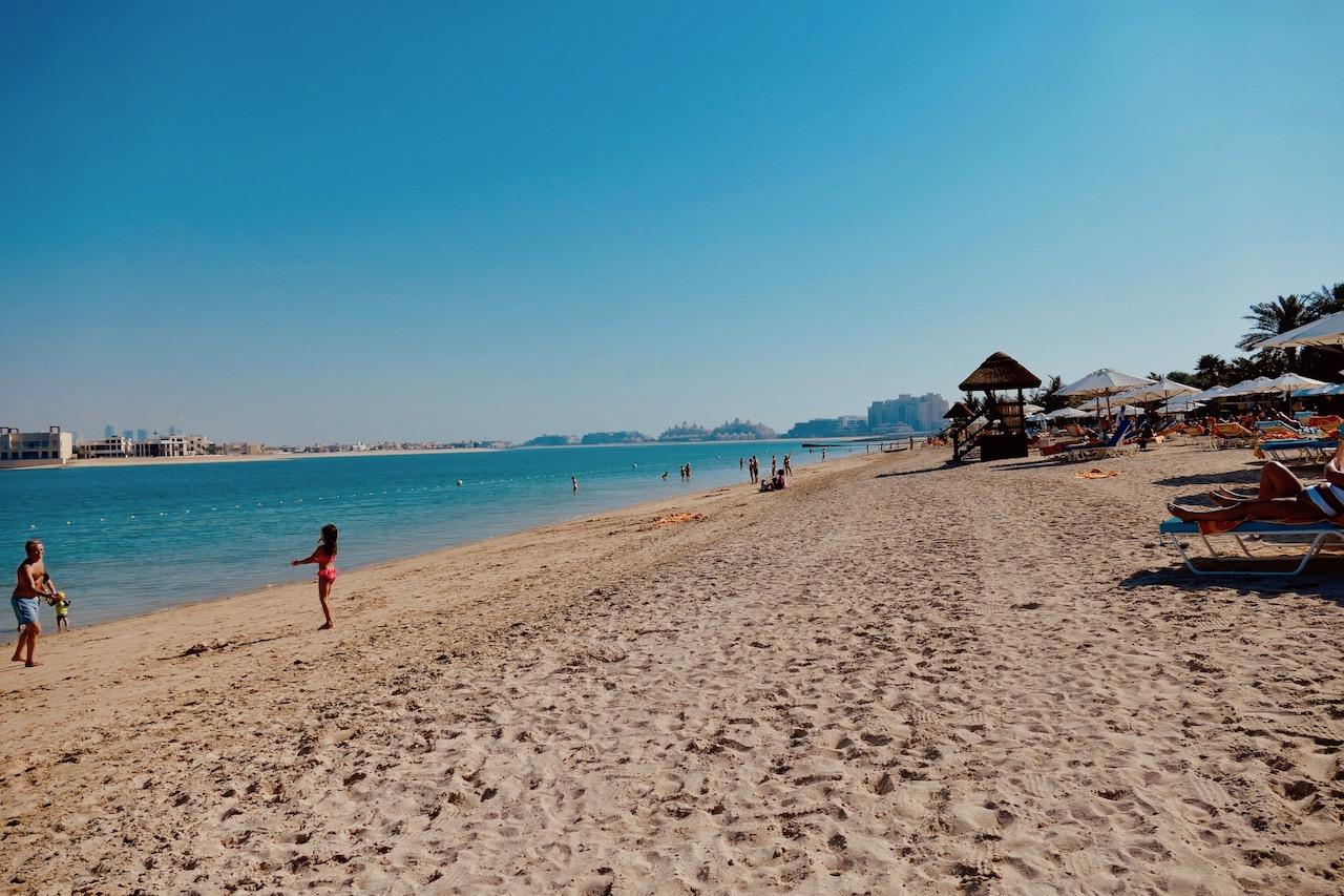 Plage de l'hôtel Atlantis Dubaï