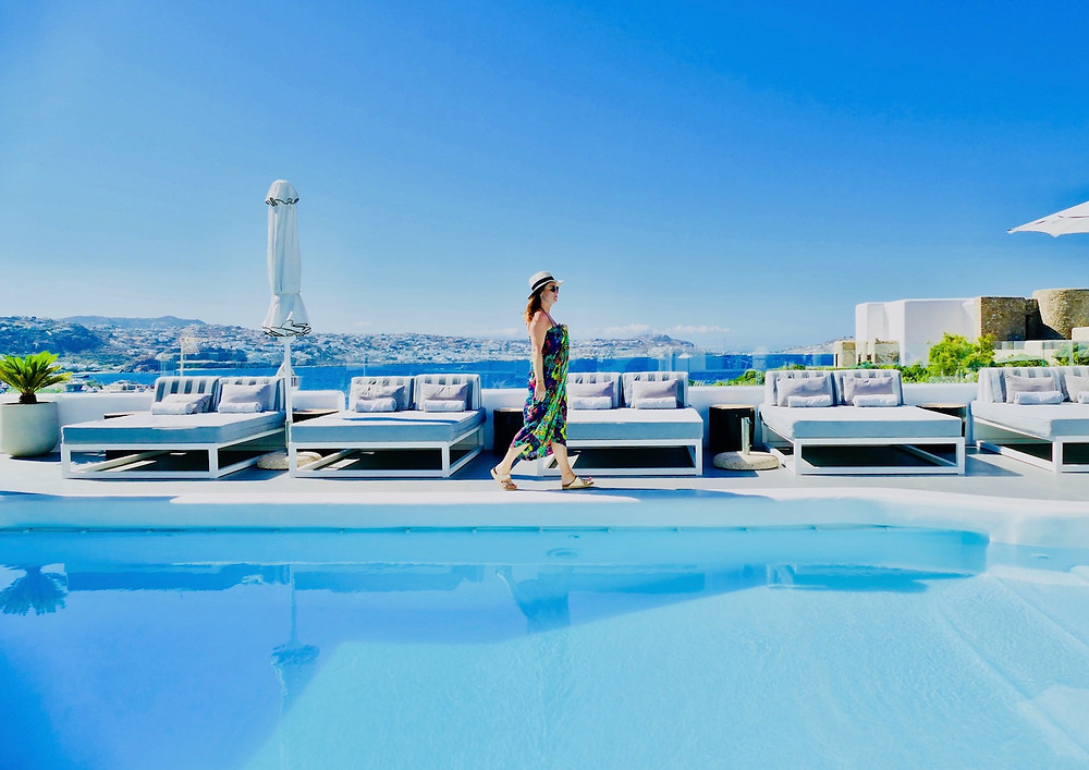 La piscine de l'hôtel Princess of Mykonos