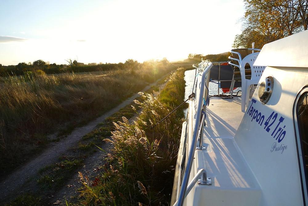 Coucher du soleil Canal du midi