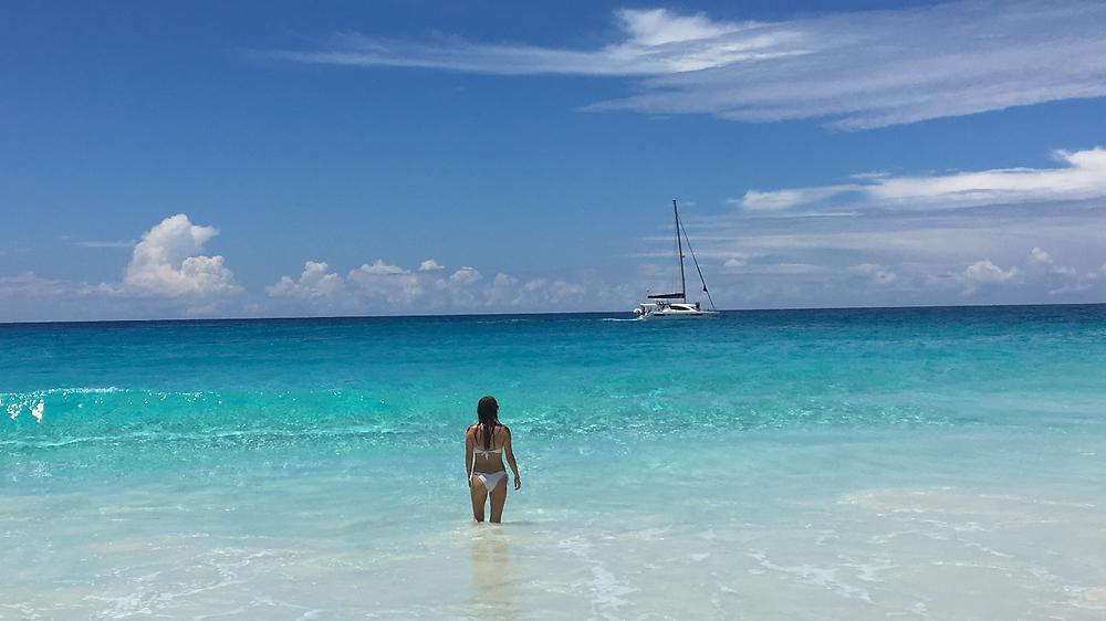 Plage de Grande Soeur aux Seychelles