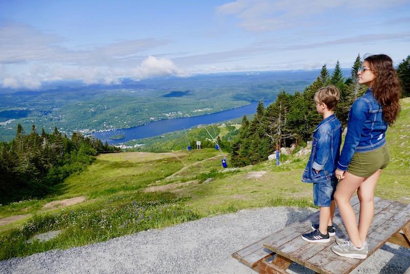 Vue panoramique au sommet de Tremblant