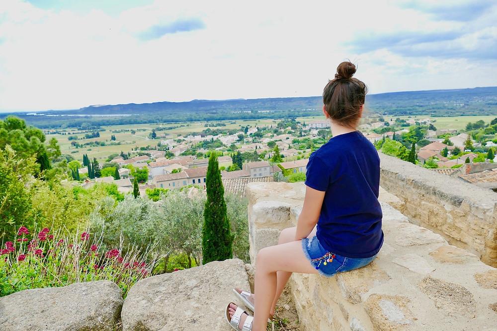 Vue panoramique depuis la forteresse de Châteauneuf-du-Pape
