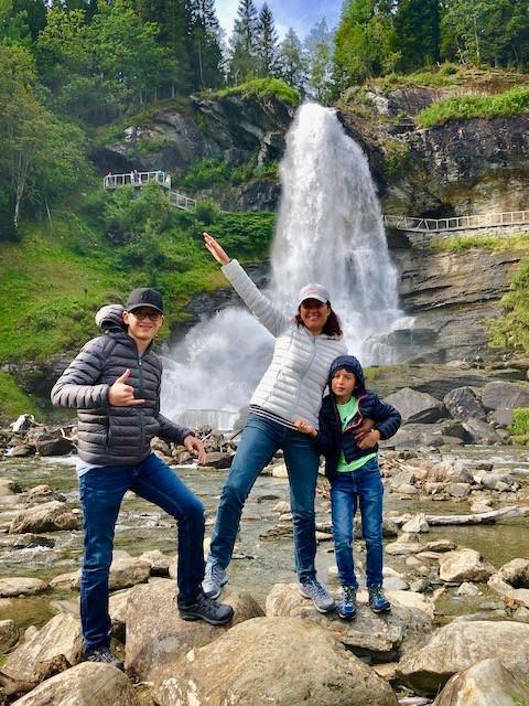 La cascade de Steinsdalsfossen en Norvège