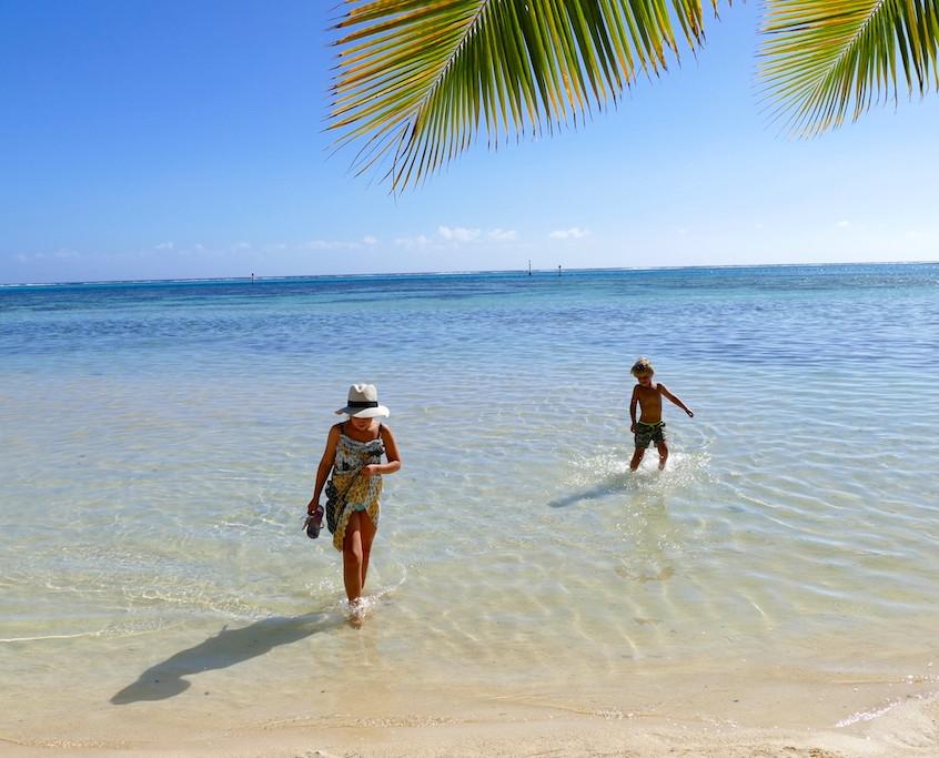La plage des Tipaniers à moorea