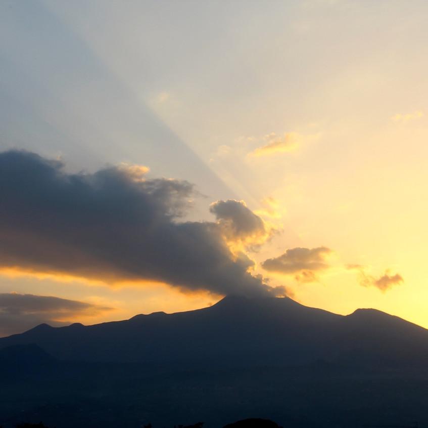 Coucher du soleil sur l'etna