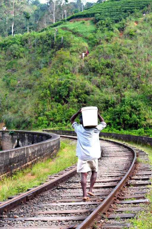 Voie de chemin de fer à Ella