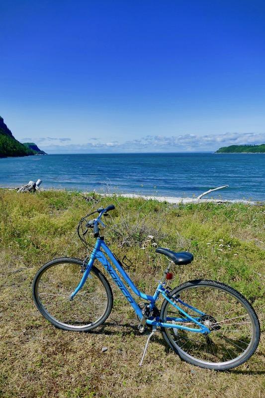 Vélo au parc national du Bic