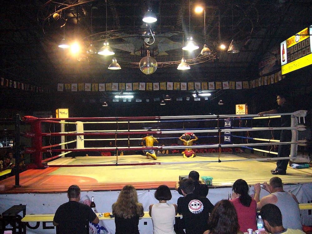 Spectable de boxe à Koh Samui