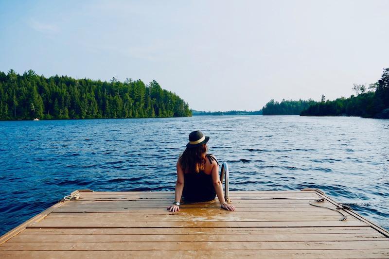 Fin de journée à la Pourvoirie du Lac Blanc