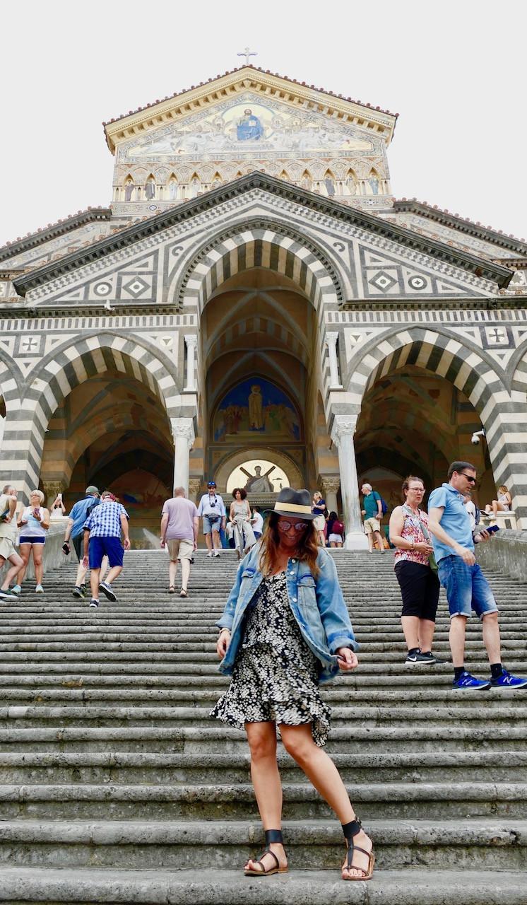 """cathédrale de style byzantin Sant Andrea Apostolo surnommé le """"Dôme d'Amalfi"""""""