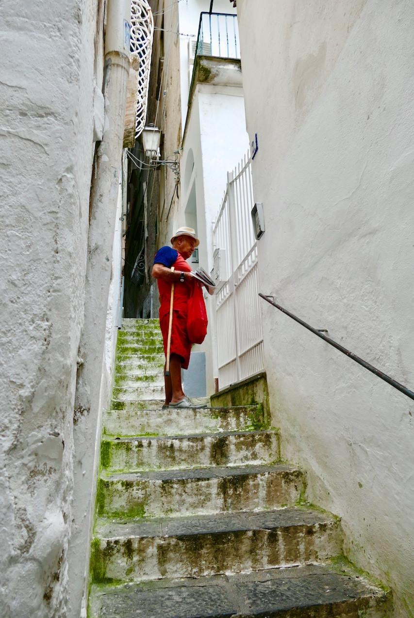 Les ruelles blanches d'Amalfi