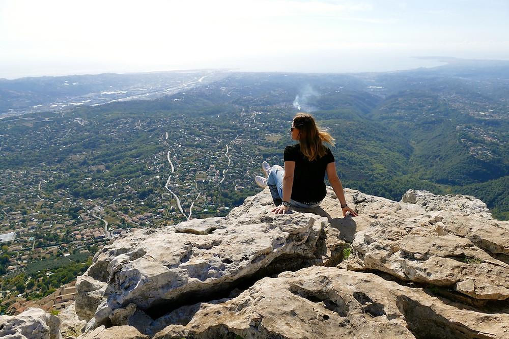 Vue panoramique au sommet du Baou de Saint-Jeannet