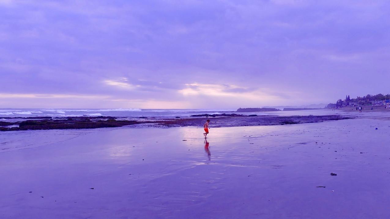 Sunset sur la plage de Canggu