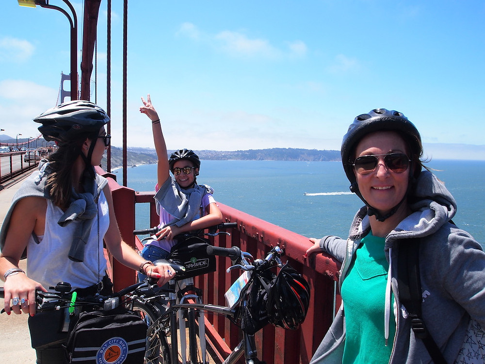balade en vélo au Golden Gate à San Francisco