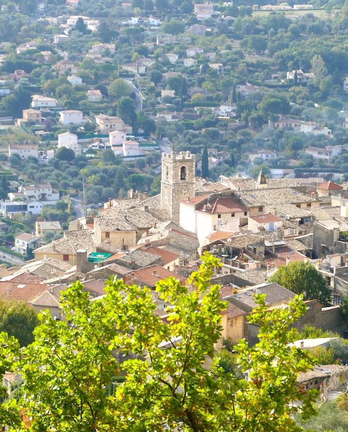 vue du village de St-Jeannet