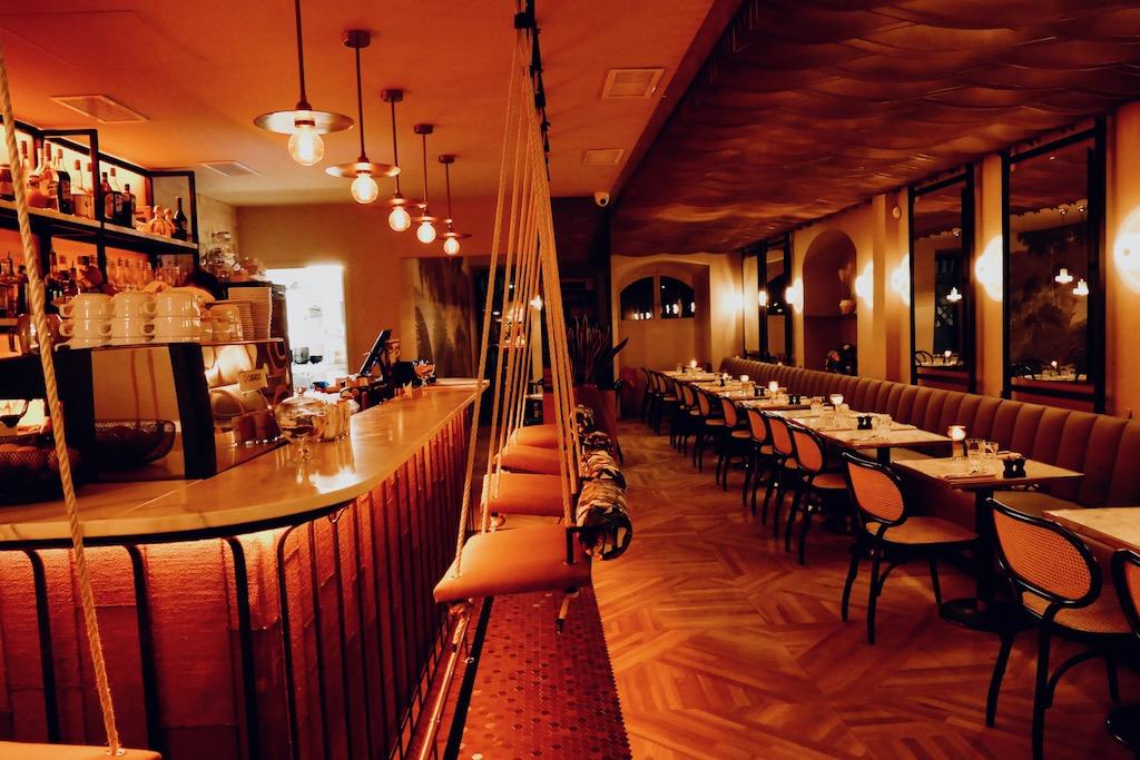 La Bar du restaurant Edusa à Nice