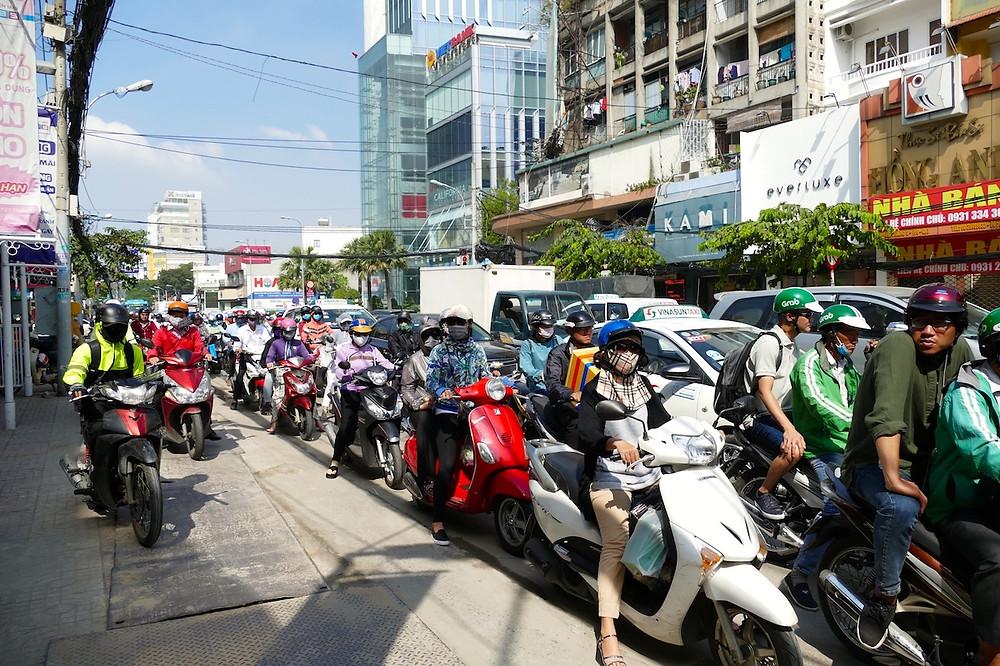 la circulation à Ho chi Minh