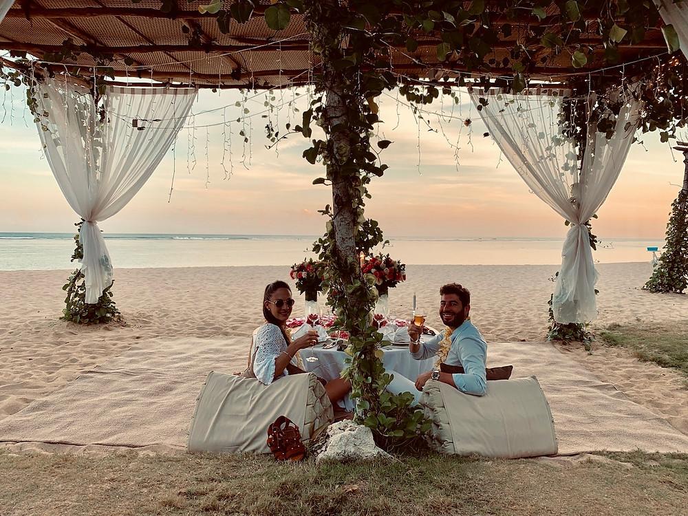 diner romantique à Bali