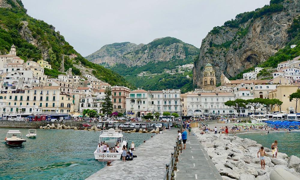 Le village d'Amalfi en Italie