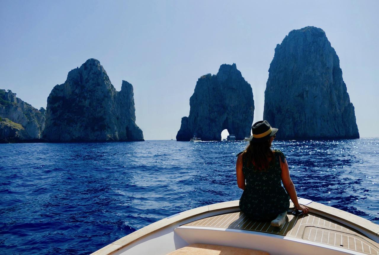 les 3 rochers Faraglioni à Capri
