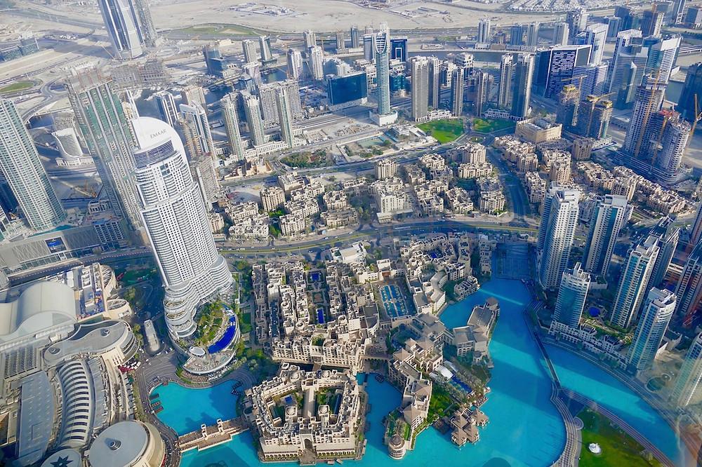 Vue du sommet du Burj Khalifa