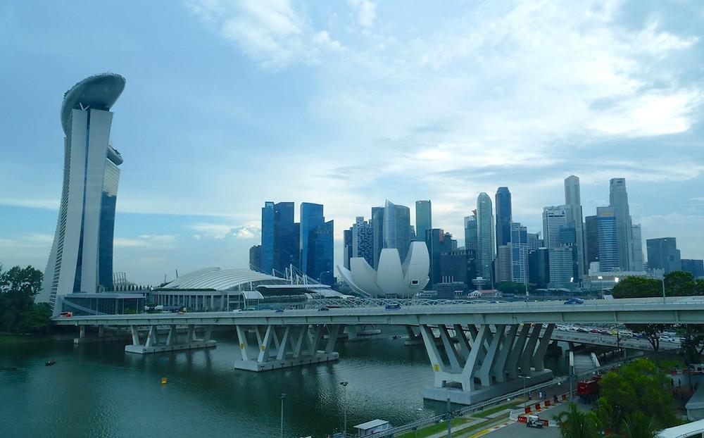 Vue de Singapour depuis Singapore Flyer