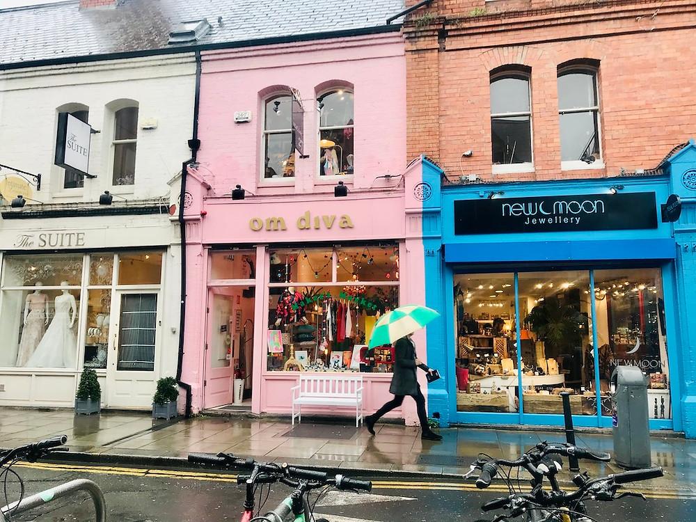 Les maisons colorées de Dublin