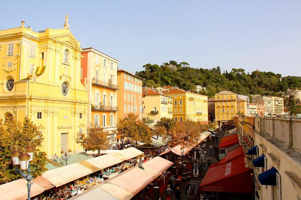 Le cours Saleya à Nice