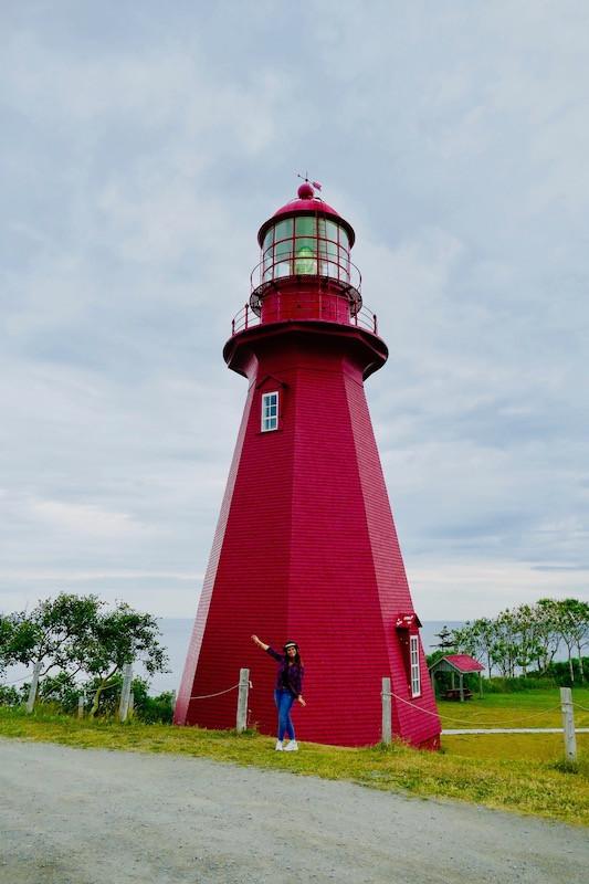le phare rouge de La Martre en Gaspésie