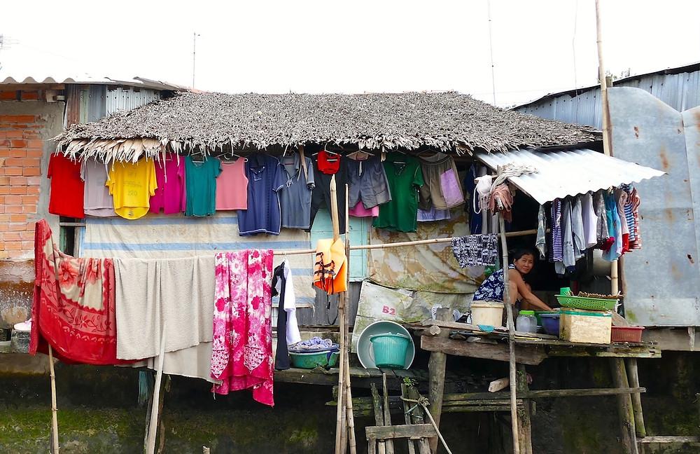 Habitation sur le Mékong