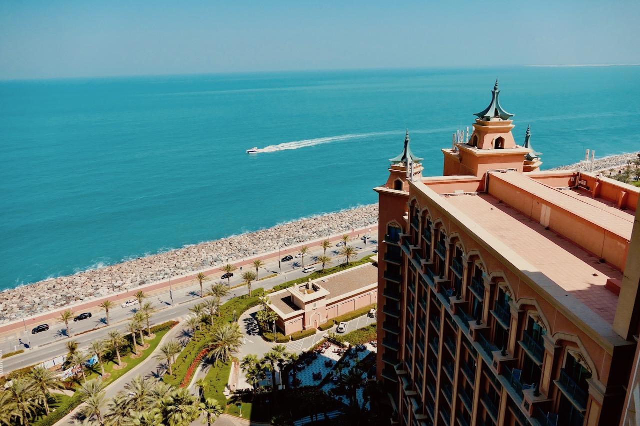 Vue de l'Hôtel Atlantis Dubaï