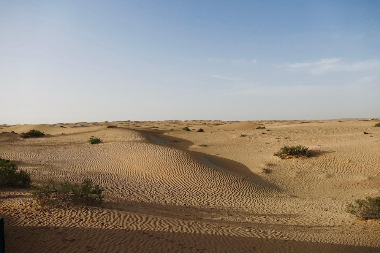 L'immensité du désert de Dubaï