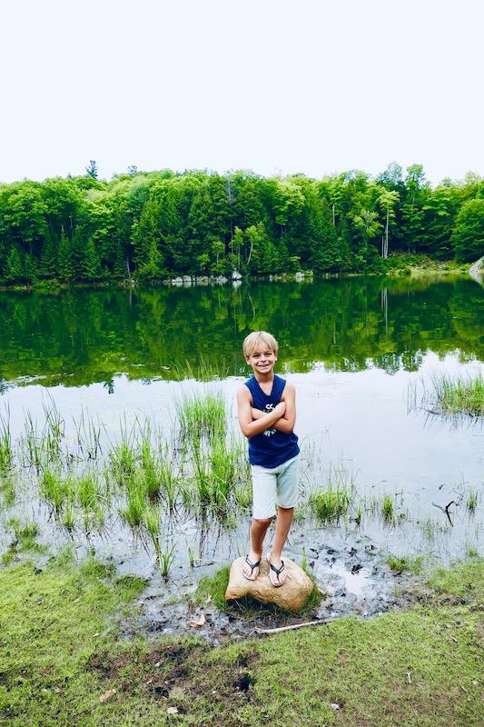 Le lac du parc omega
