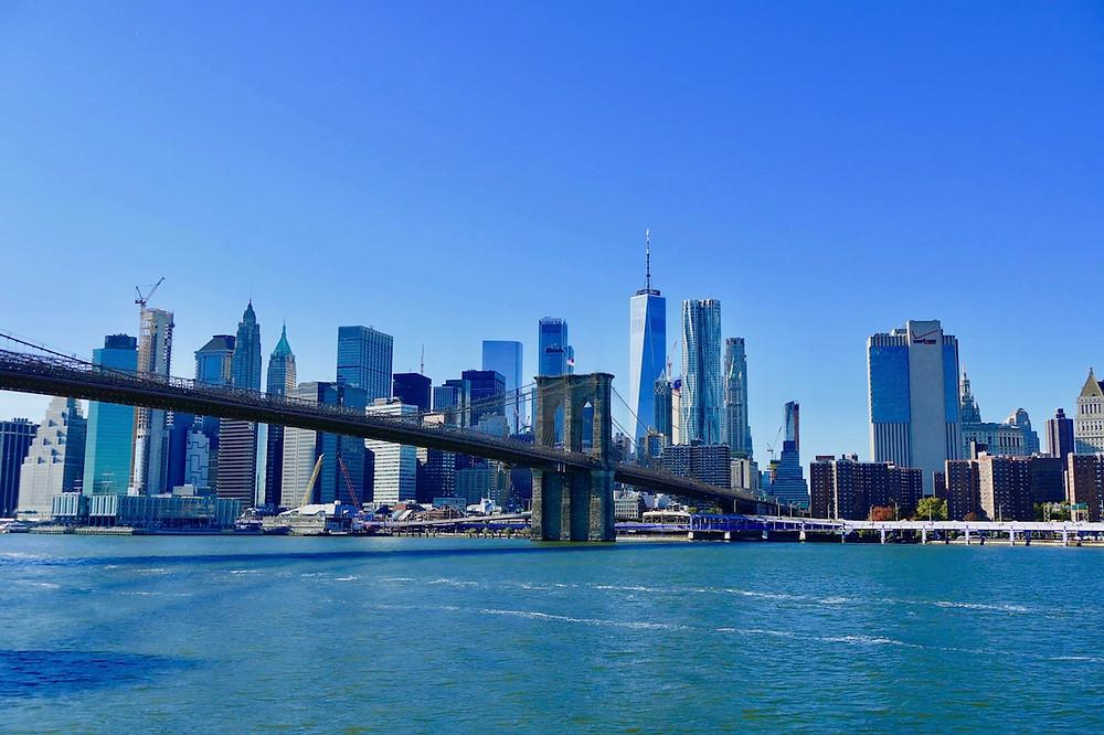 vue de Manhattan depuis le ferry