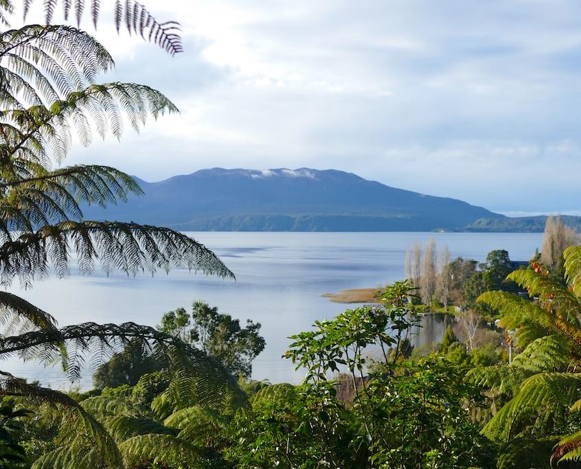 Vue du lac Tarawera