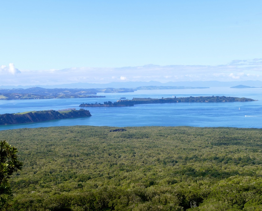 Vue du sommet de Rangitoto