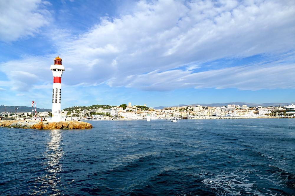 Vue de Cannes et la croisette