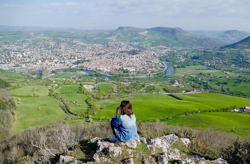 Vue panoramique de Millau en Aveyron