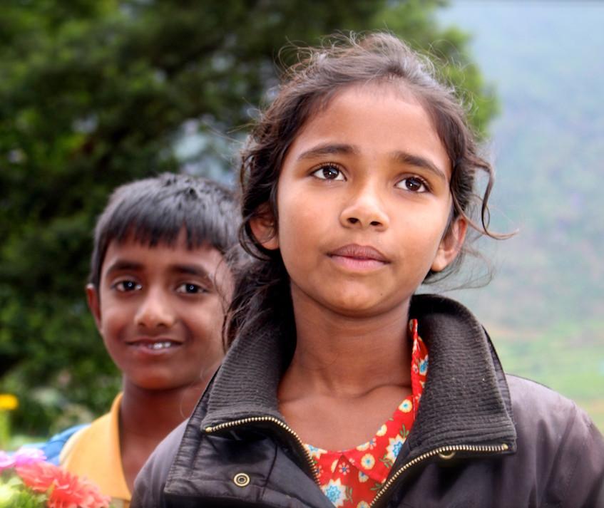 Des enfants sri lankais