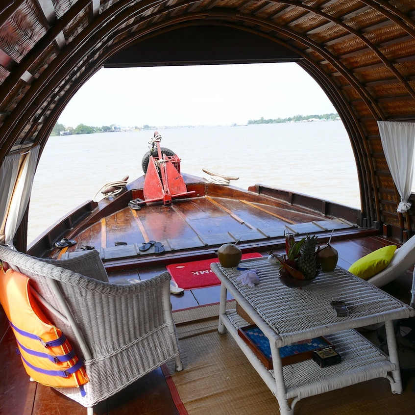 Croisière en sampan sur le Mékong