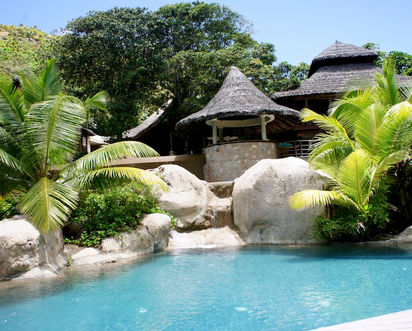 Piscine du Lemuria Resort, Praslin