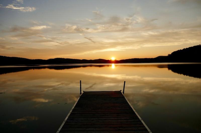 Coucher du soleil sur le Lac Tremblant