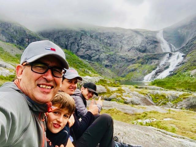 La famille de Valérie en Norvège