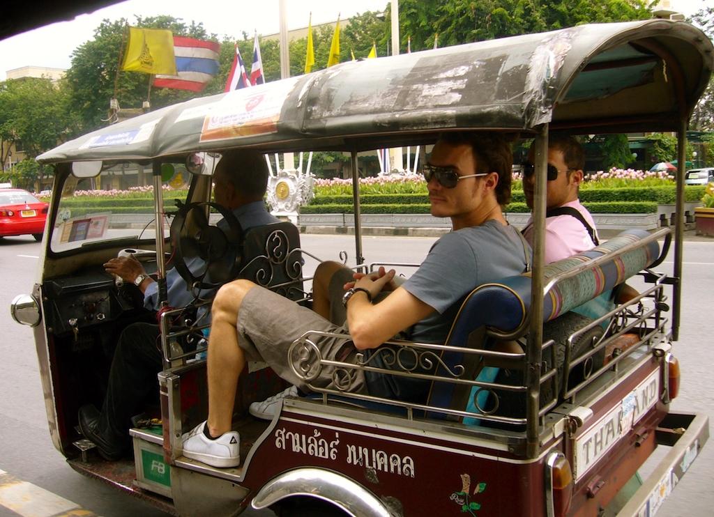 Déplacement en tuk-tuk à Bangkok