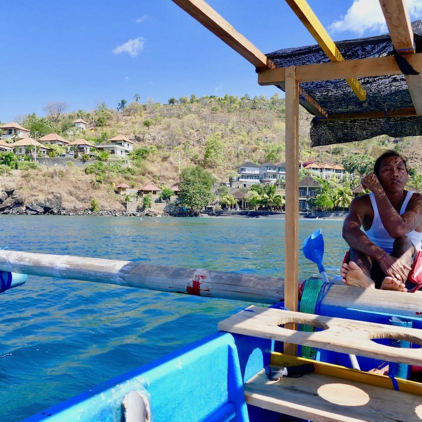 Bateau pour snorkeling à Amed