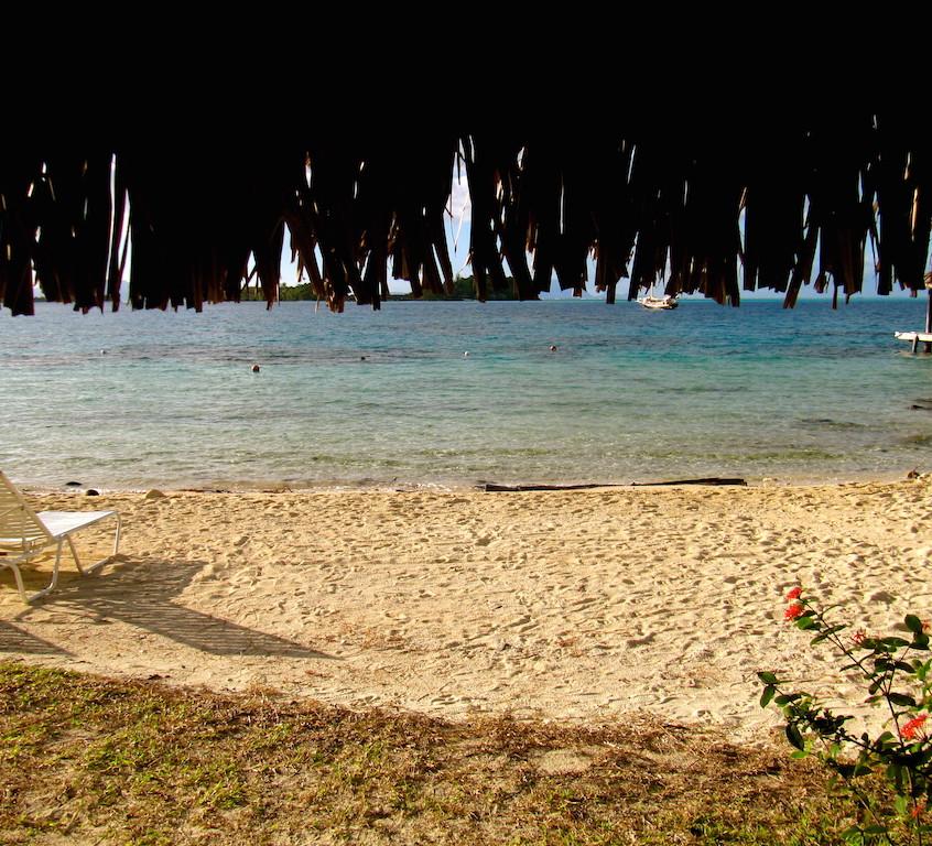 La plage du Sofitel de Bora Bora