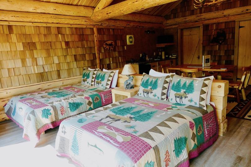 La chambre de la cabane des loups