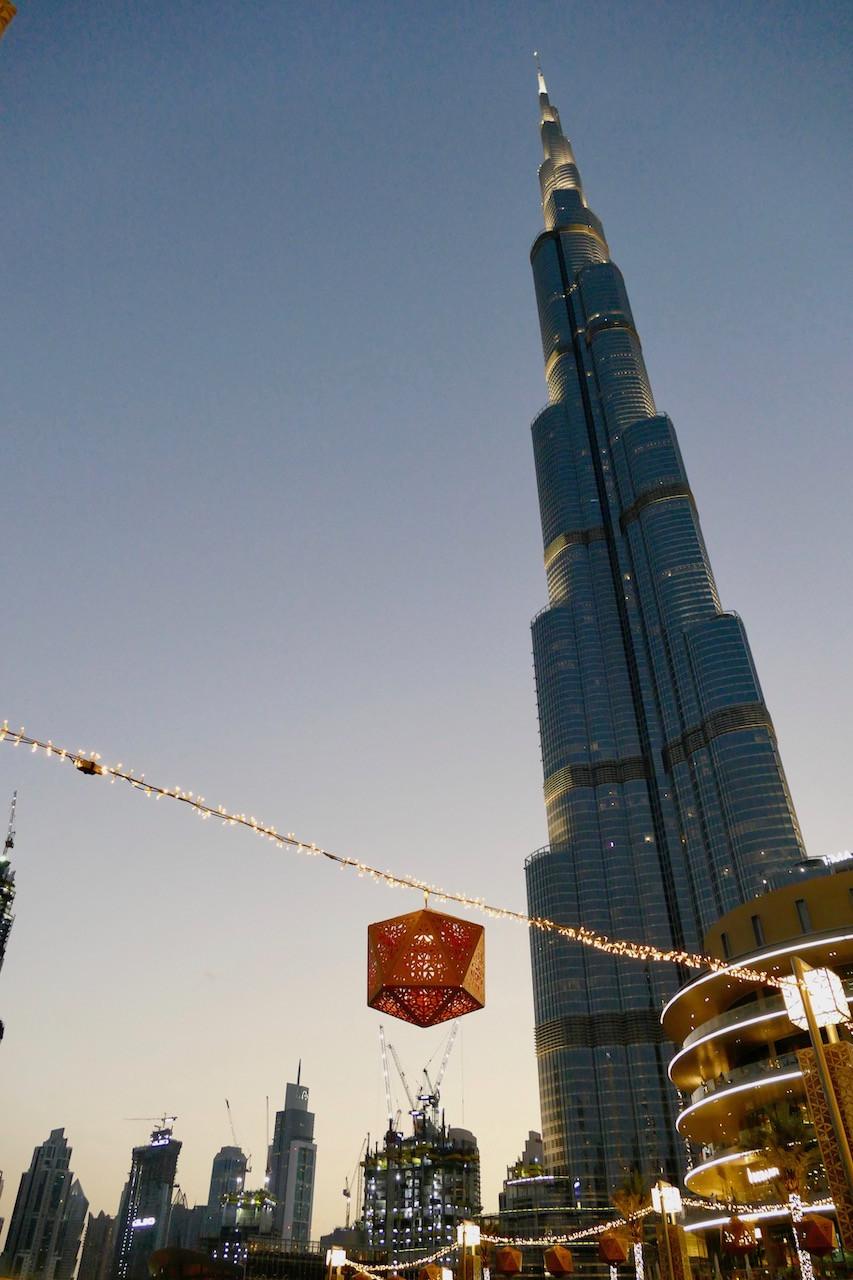 Burj Khalifa à la tombée de la nuit