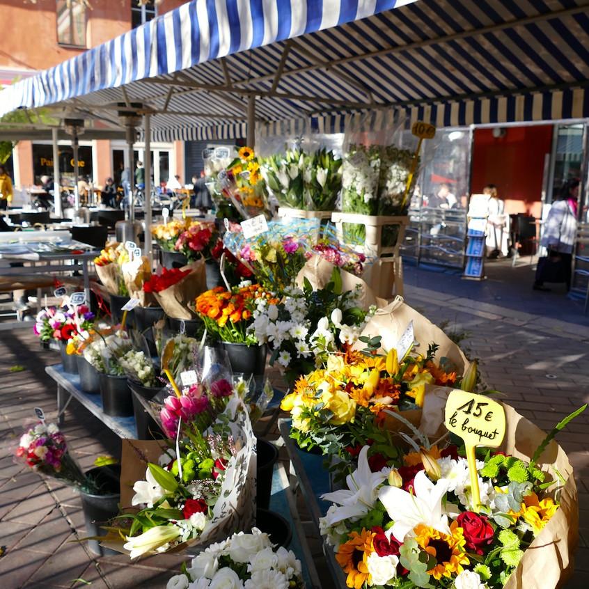 Marché aux fleurs du Cours Saleya