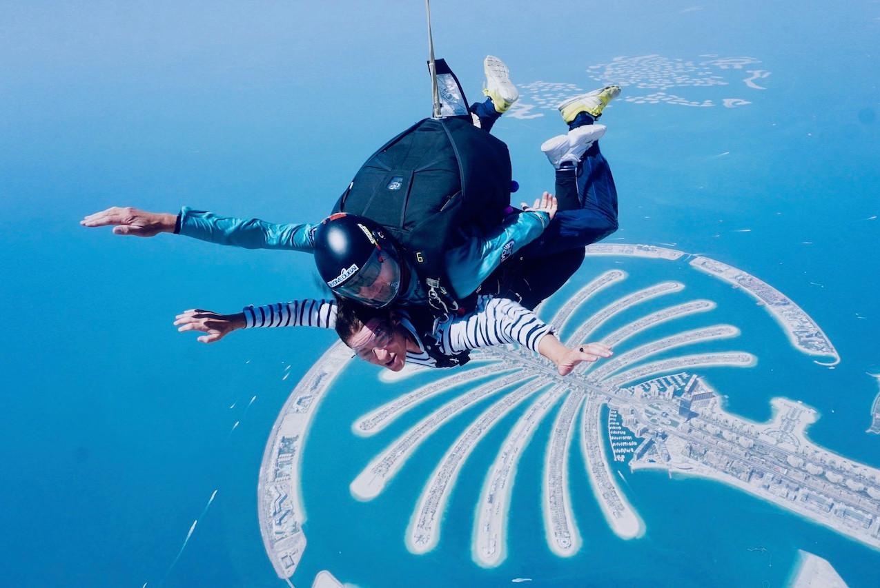Saut en chute libre à Dubaï